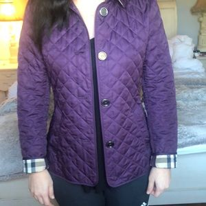 AUTHENTIC!! Plum Burberry quilted jacket